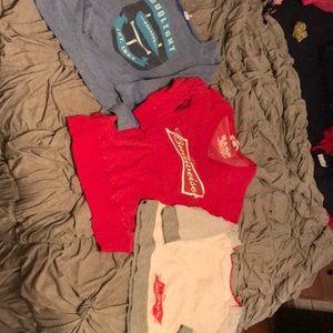 Anheuser Busch Budweiser and Budlight swearshirts